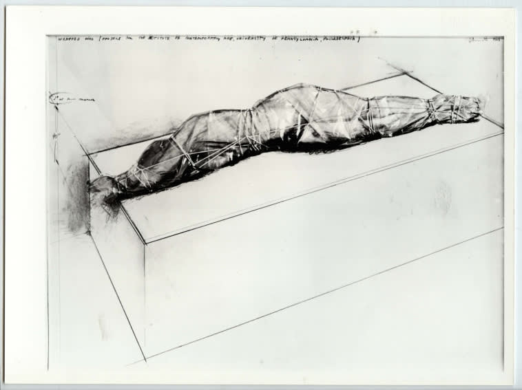 CHRISTO and Jeanne-Claude, Wrapped Girl (Project for the Institute of Contemporary Art, University of Pennsylvania, Philadelphia), 1968