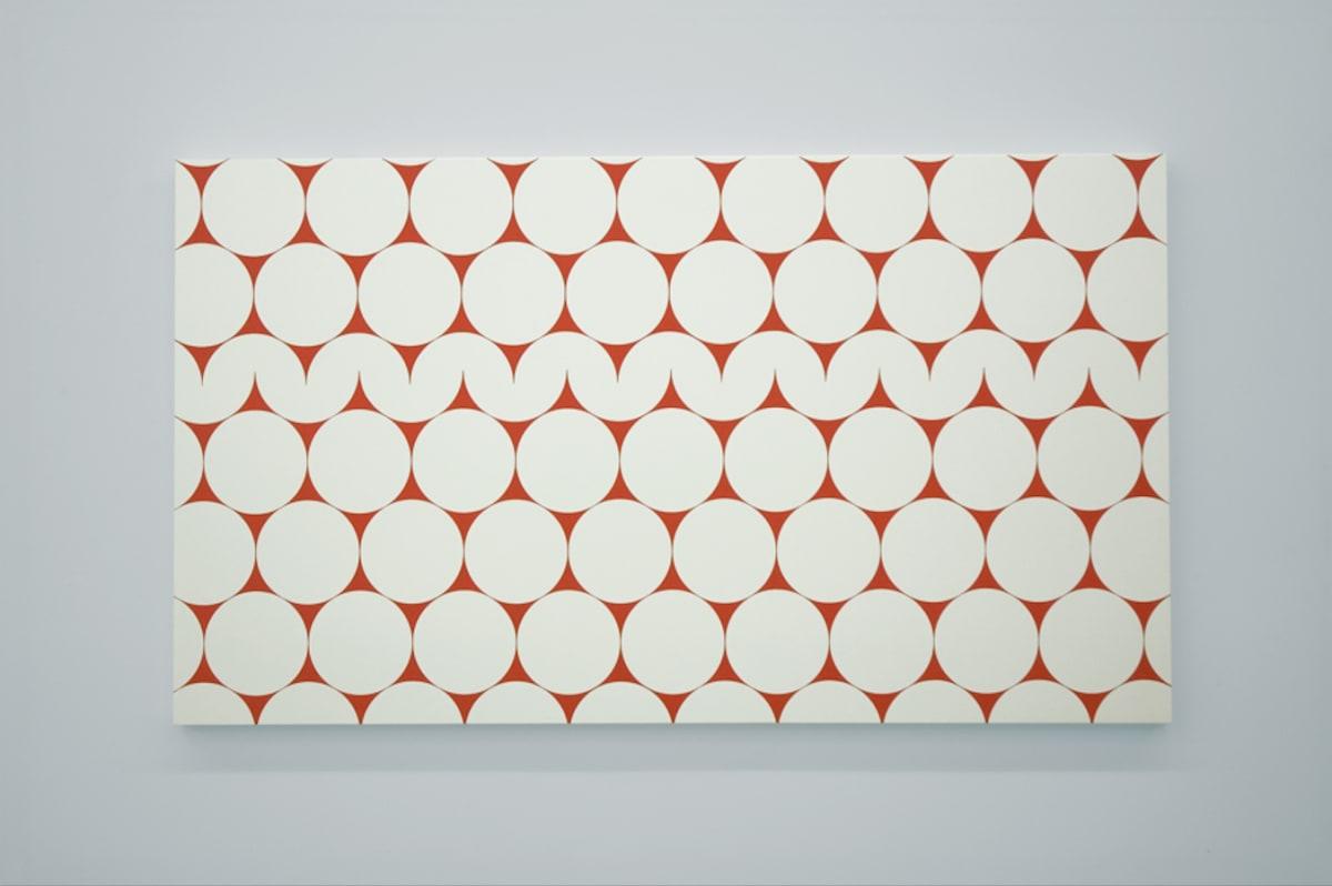 """François Morellet 52 x 4 no. 3 (Quand j'étais petit, je ne faisais pas grand) blow up from """"cercles et demi-cercles"""", 1952, 2006"""