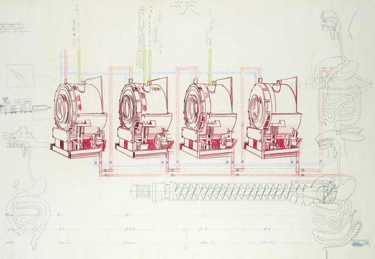 Wim DELVOYE, Sans titre #043 (dessin préparatoire pour Cloaca, 2003), 2003