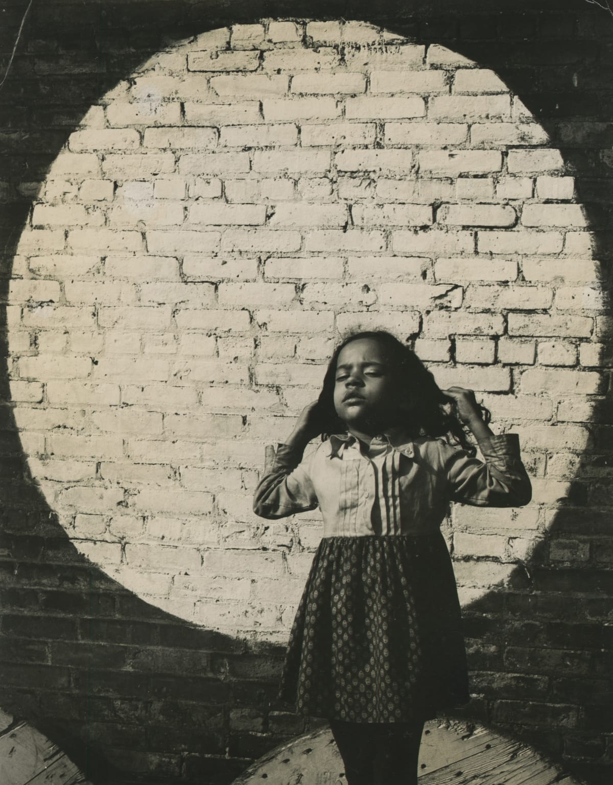 Arthur Tress, Girl in Painted Spotlight, NY NY, 1968