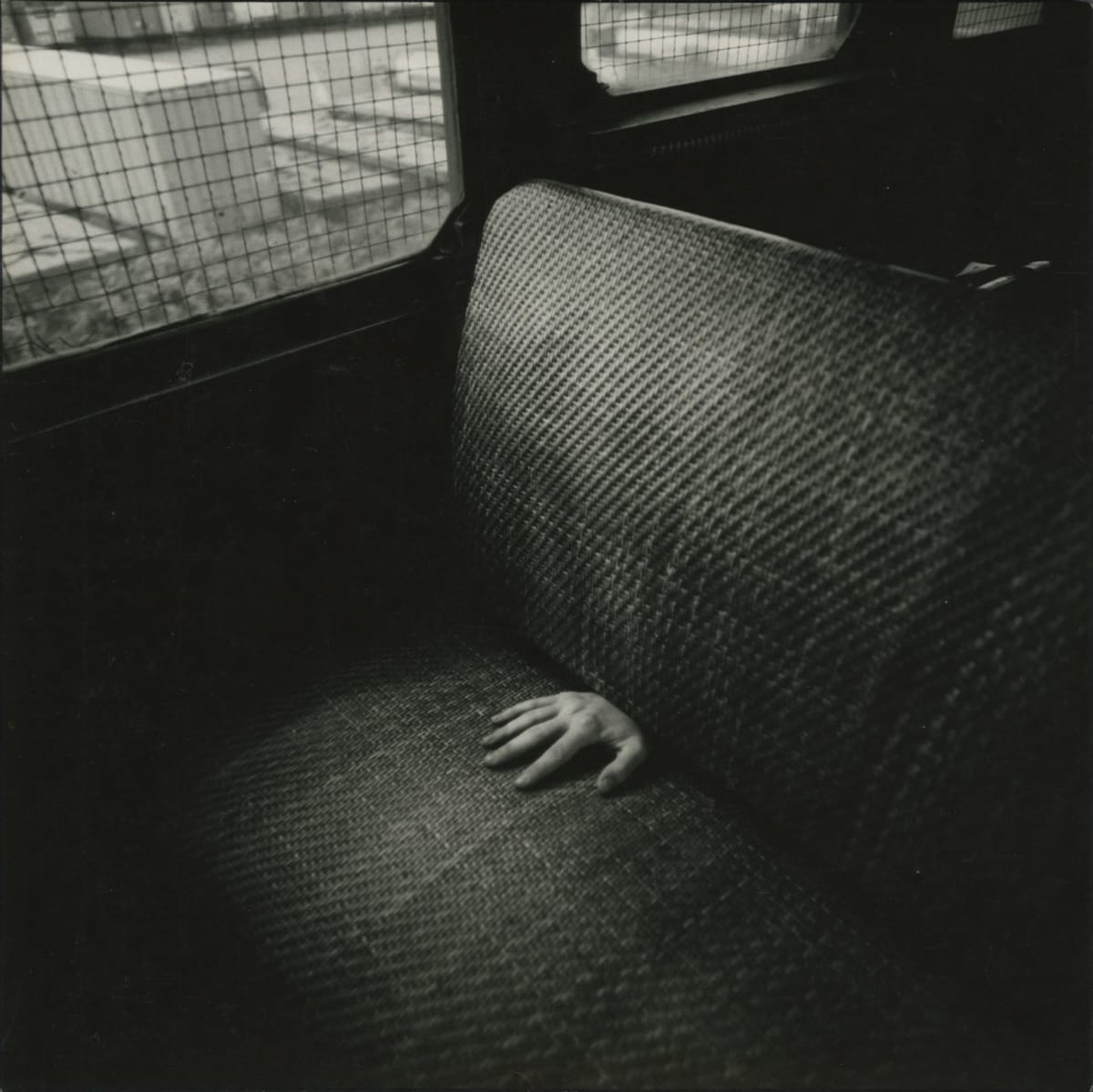 Arthur Tress, Hand on Train Seat, Staten Island, NY