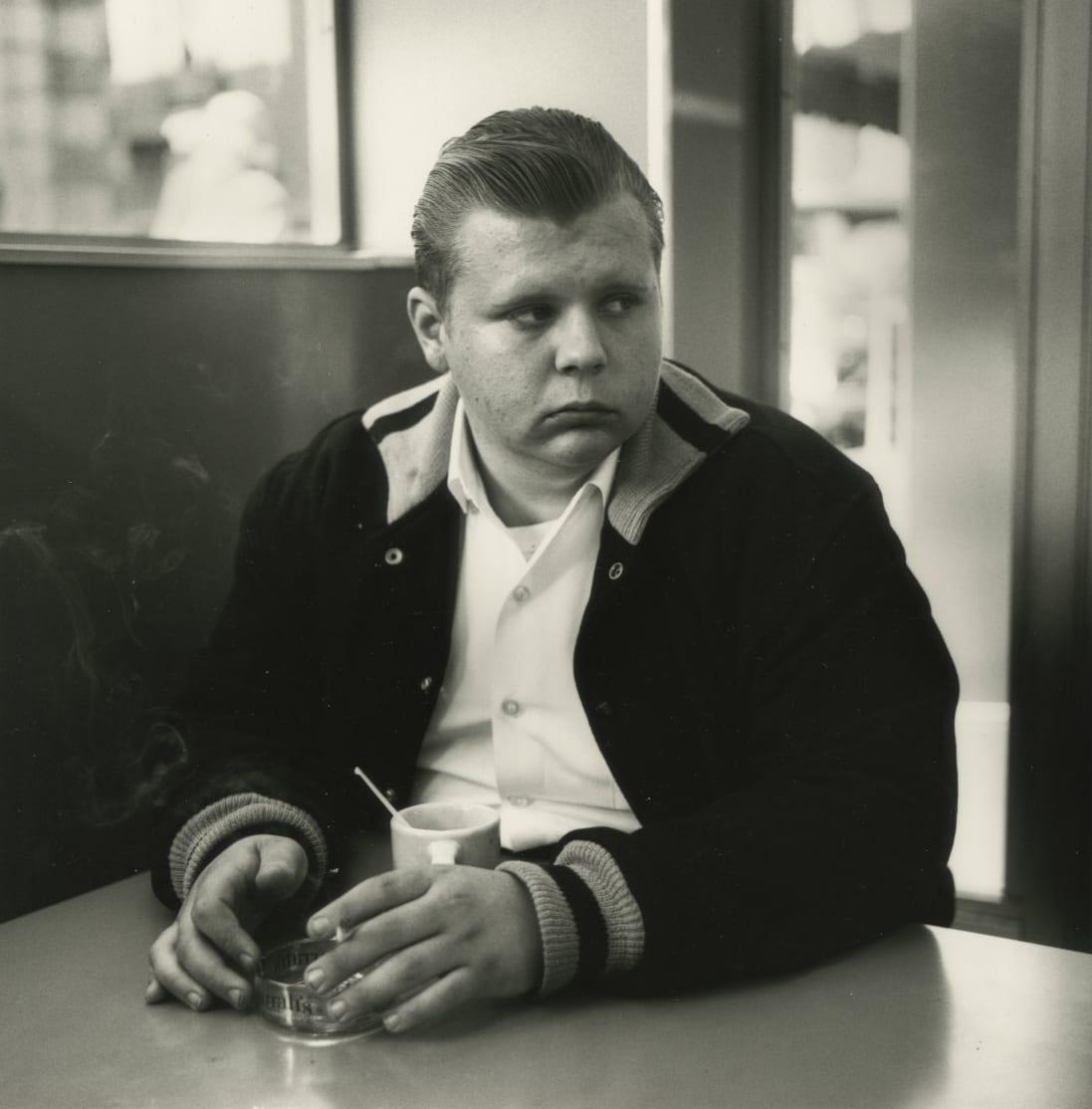 Arthur Tress, Boy, Market Street Diner, SF, 1964