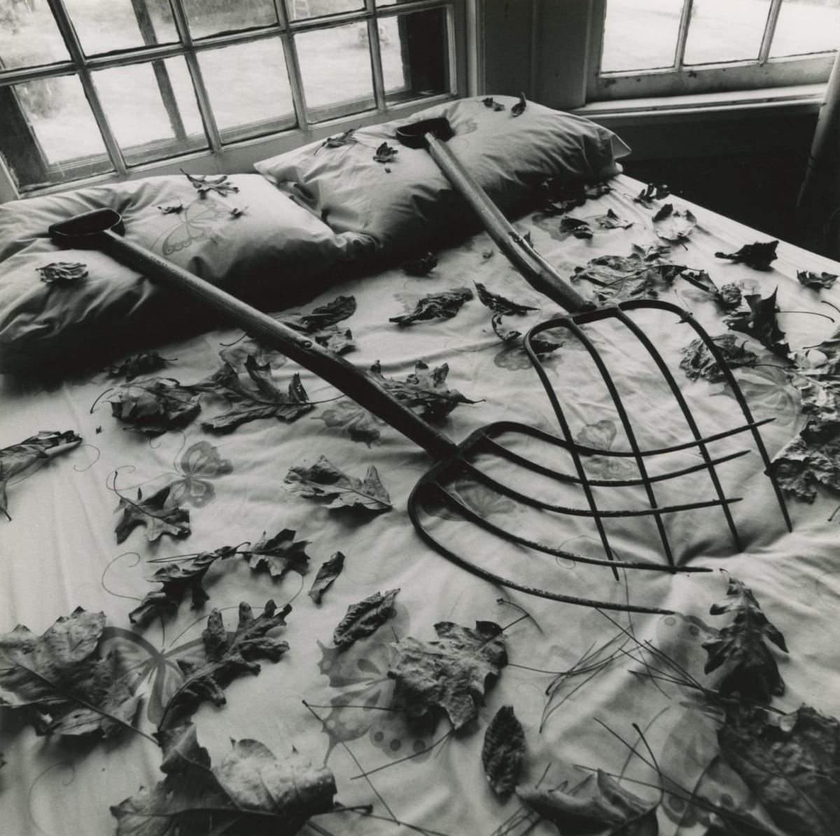 Arthur Tress, Making Leaves, Cold Spring, NY, 1978