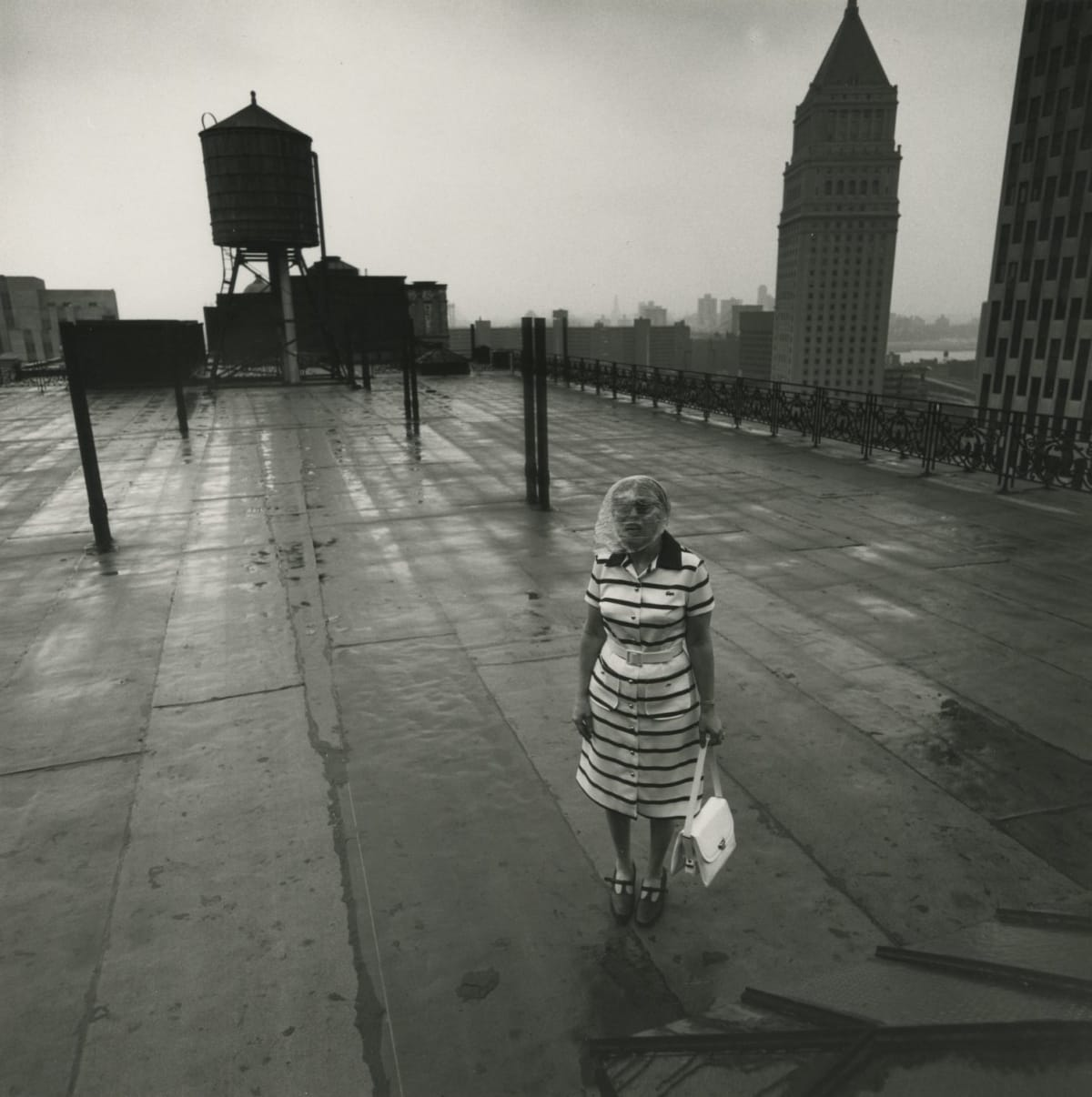 Arthur Tress, Woman on the Roof, NY, 1972