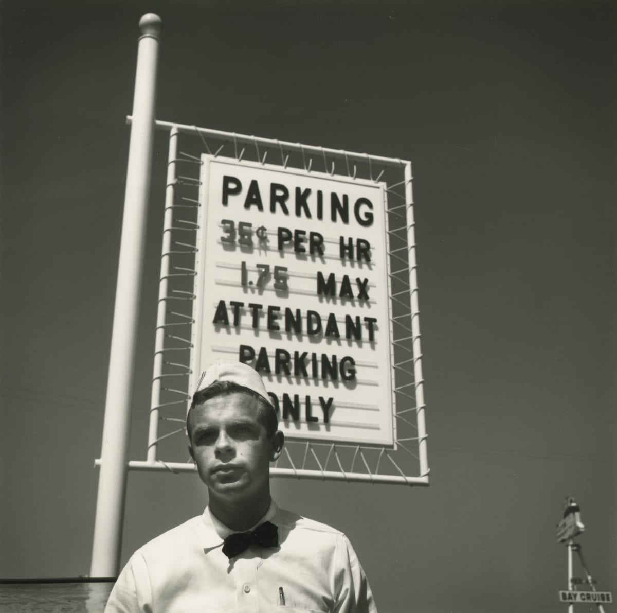 Arthur Tress, Parking Attendant, Fisherman's Wharf, San Francisco, 1964