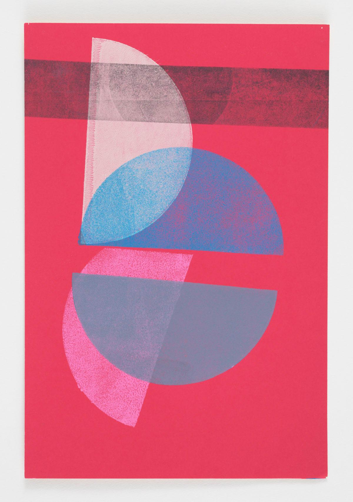 Austin Thomas, Half Circles with a Black Line, 2017