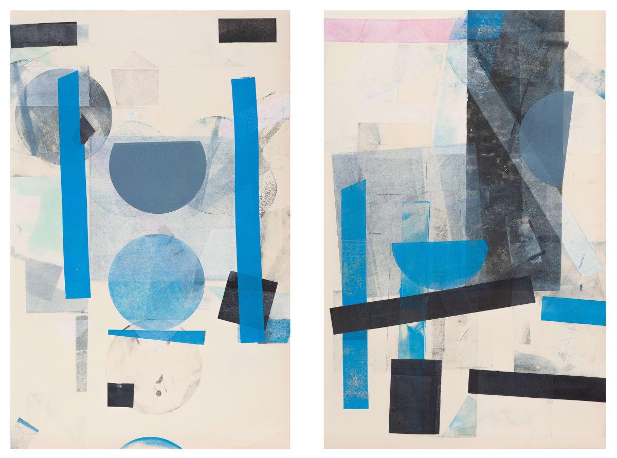 Austin Thomas, Line Form Color (Diptych), 2017