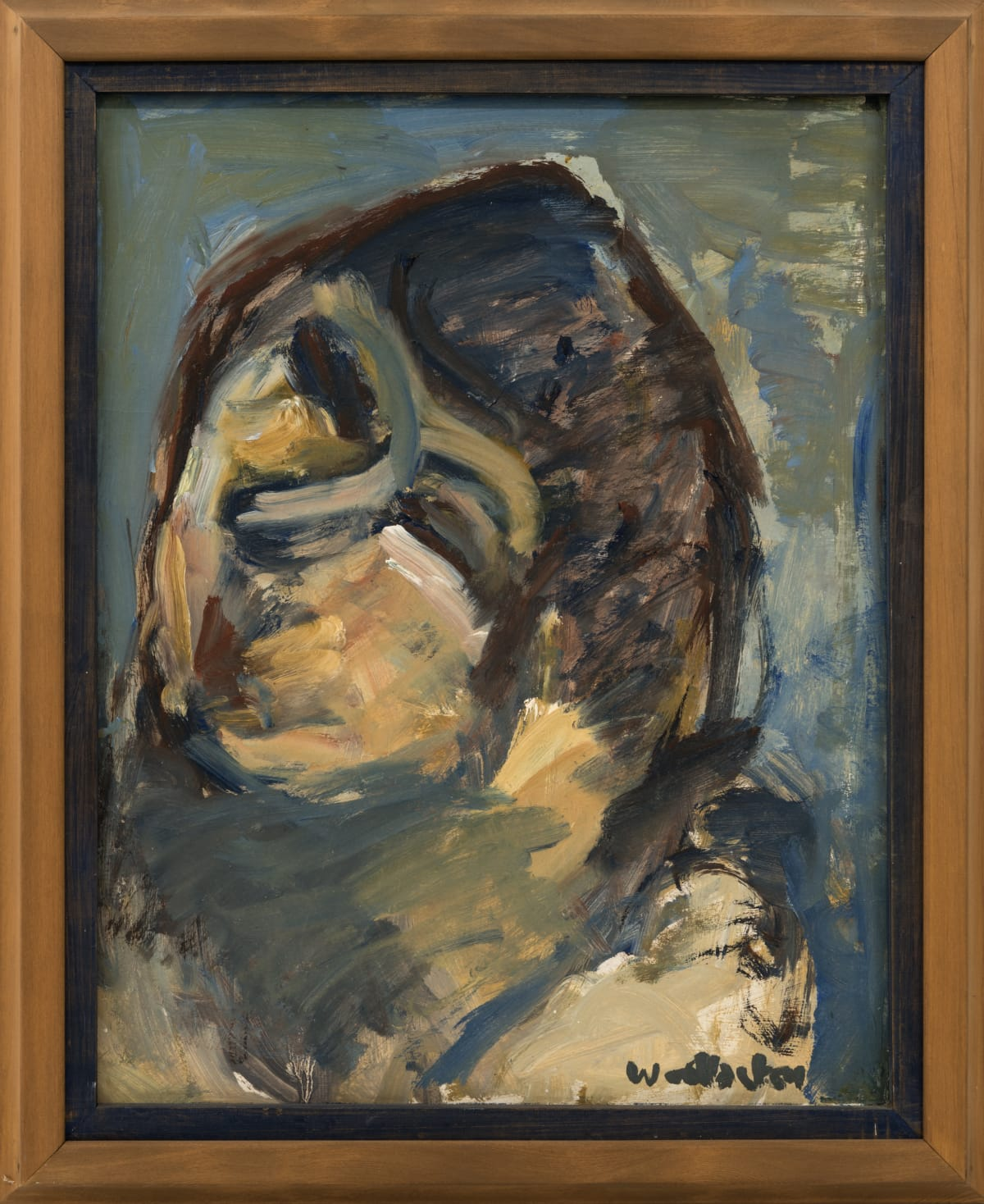 Mountford Tosswill Woollaston Sara, 1969 Oil on board 22.4 x 17.5 x 27 in 57 x 44.5 x 68.5 cm