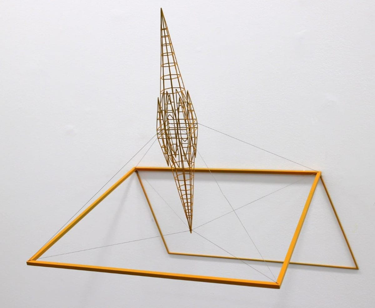 Neil Dawson Inspiration 8, 2013 Painted steel and stainless steel wire 18.5 x 18.9 x 15 in 47 x 48 x 38 cm