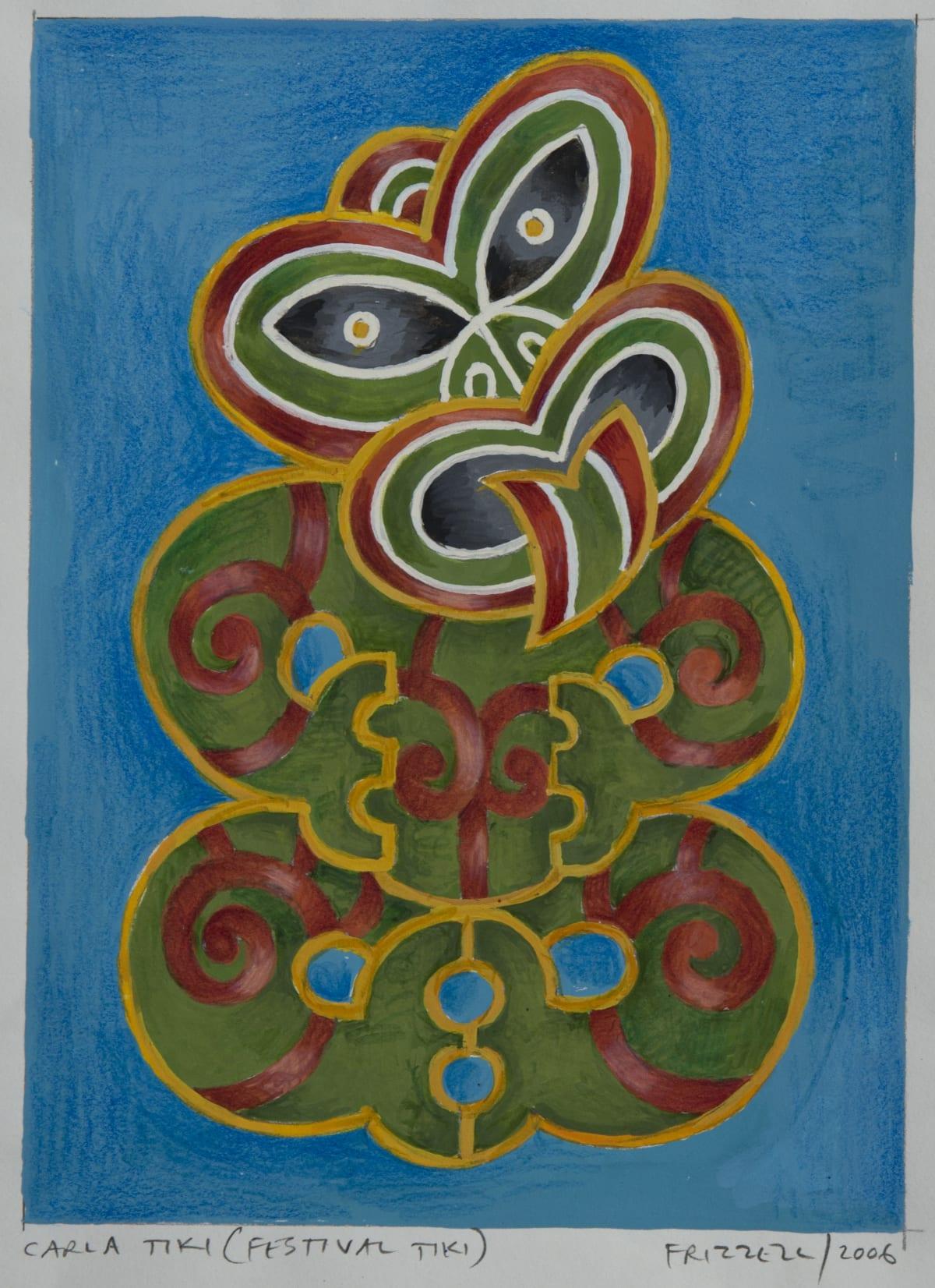 Dick FRIZZELL Carla Tiki (Festival Tiki), 2006 Gouache and pencil on paper 7.8 x 5.5 in 19.7 x 14 cm 47.5 x 37.5cm (framed)