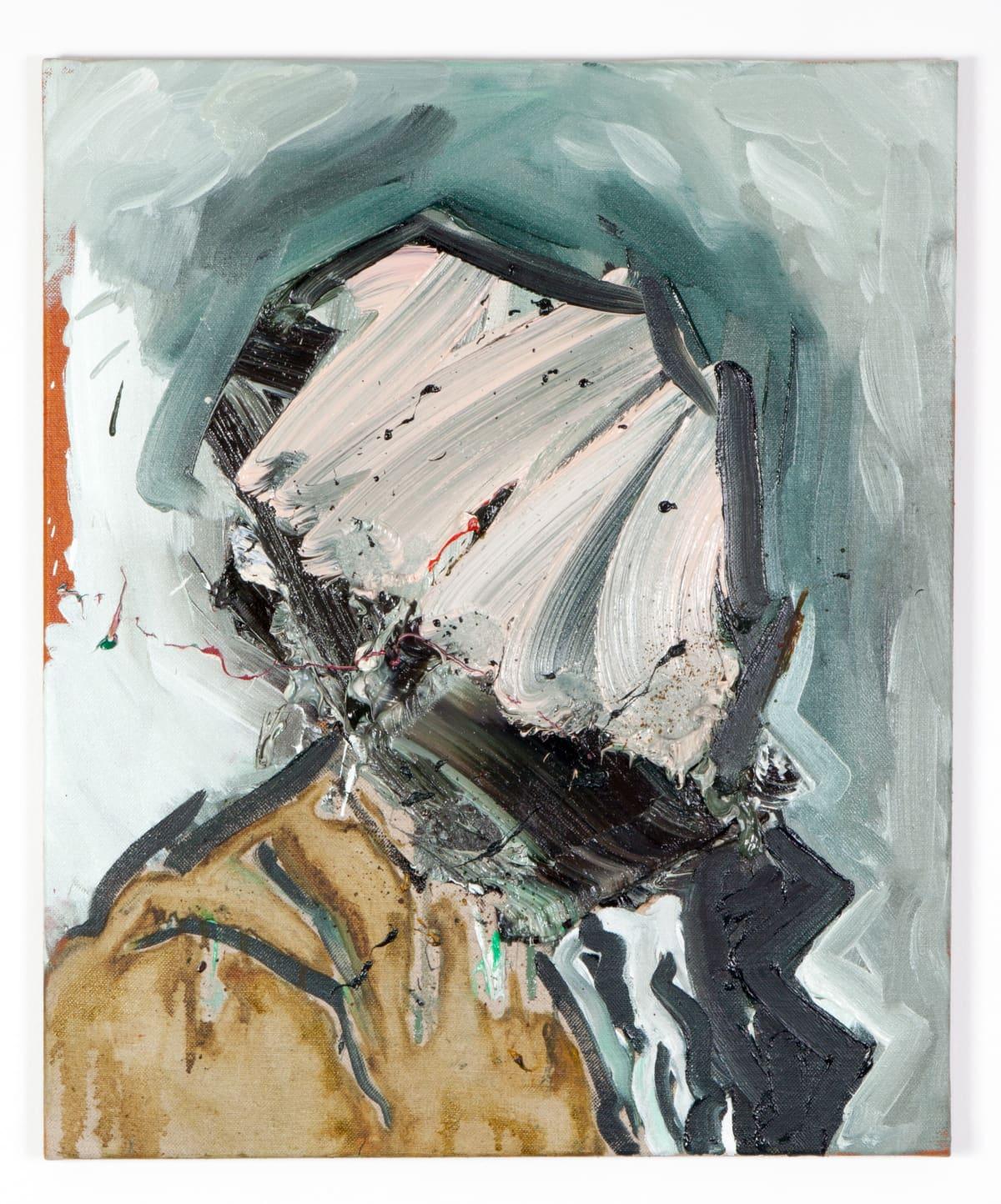 Toby Raine Cezanne Beard 2 (After Cezanne), 2015 Oil on linen 24.2 x 20.1 in 61.5 x 51 cm