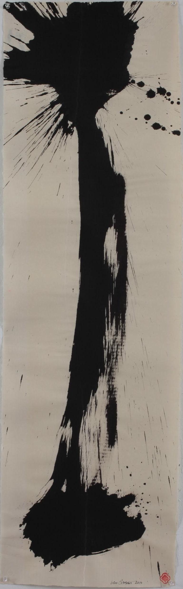 Max GIMBLETT Roshi's Stick, 2012 Mixed media on paper 56 x 17 in 142.2 x 43.2 cm