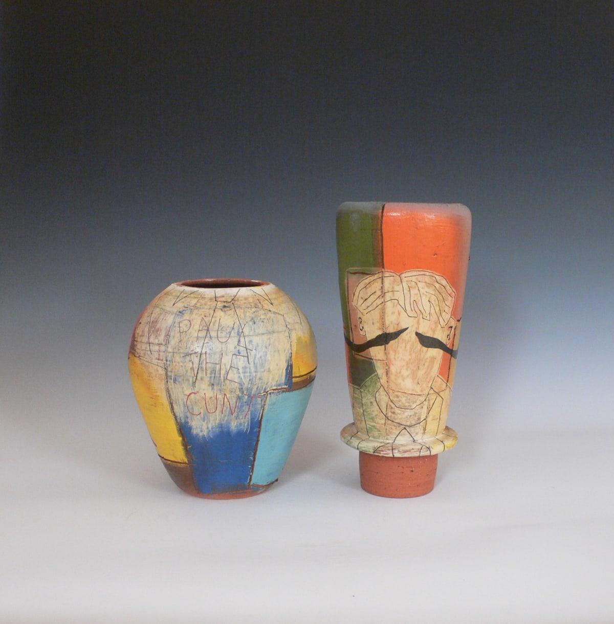 Paul Maseyk Paul the Cunt , 2018 clay, slip, glaze - wood kiln firing 480mm x 200mm x 200mm