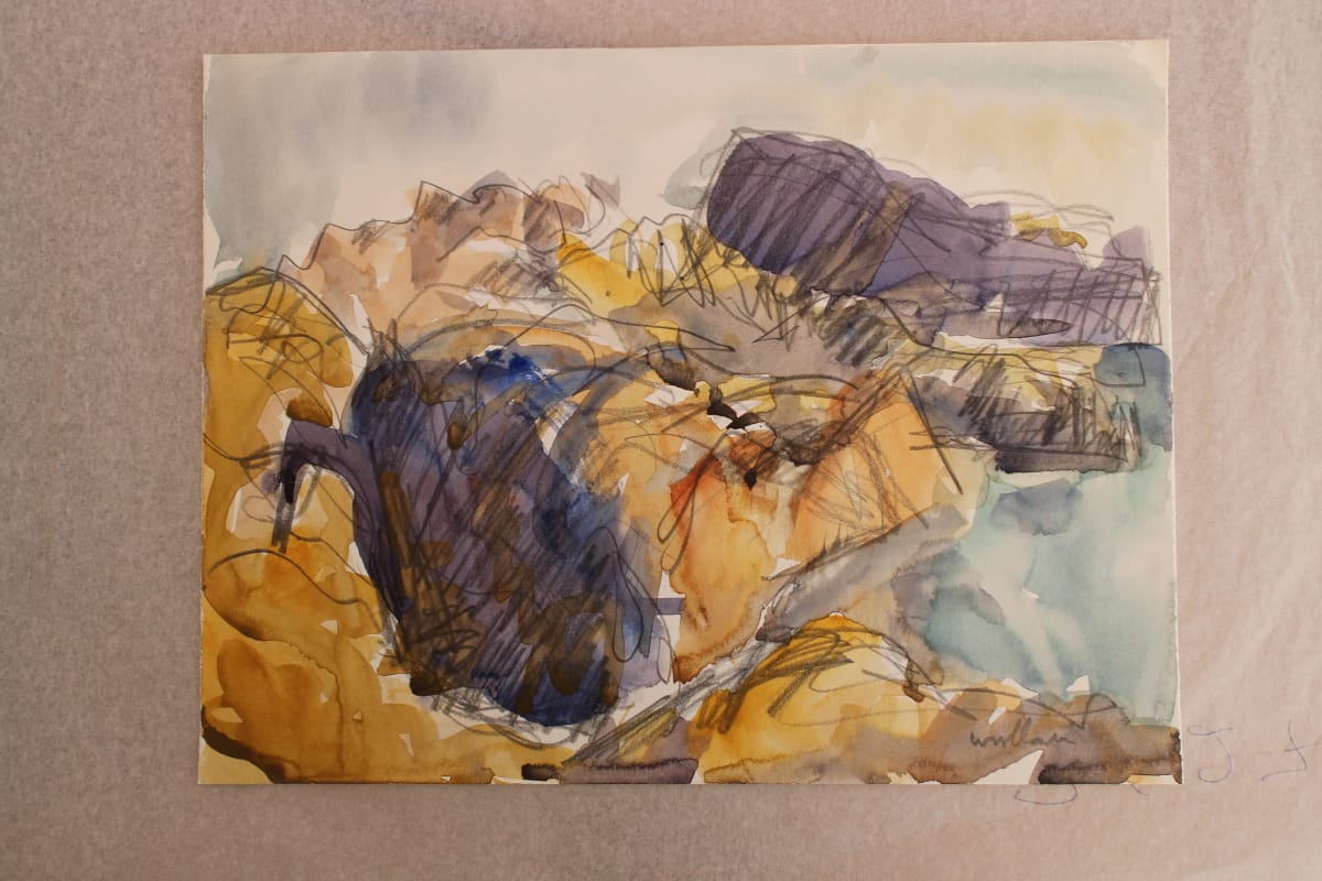 Mountford Tosswill Woollaston  Makara Coast 5, n.d.  Watercolour and pencil on paper  7.9 x 10.2 in 20 x 26 cm