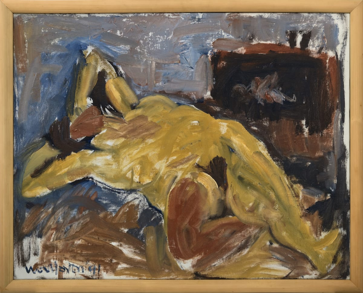 Mountford Tosswill Woollaston Untitled [Reclining Nude], 1991 Oil on canvas 31.5 x 39.8 x 34.8 in 80 x 101 x 88.5 cm