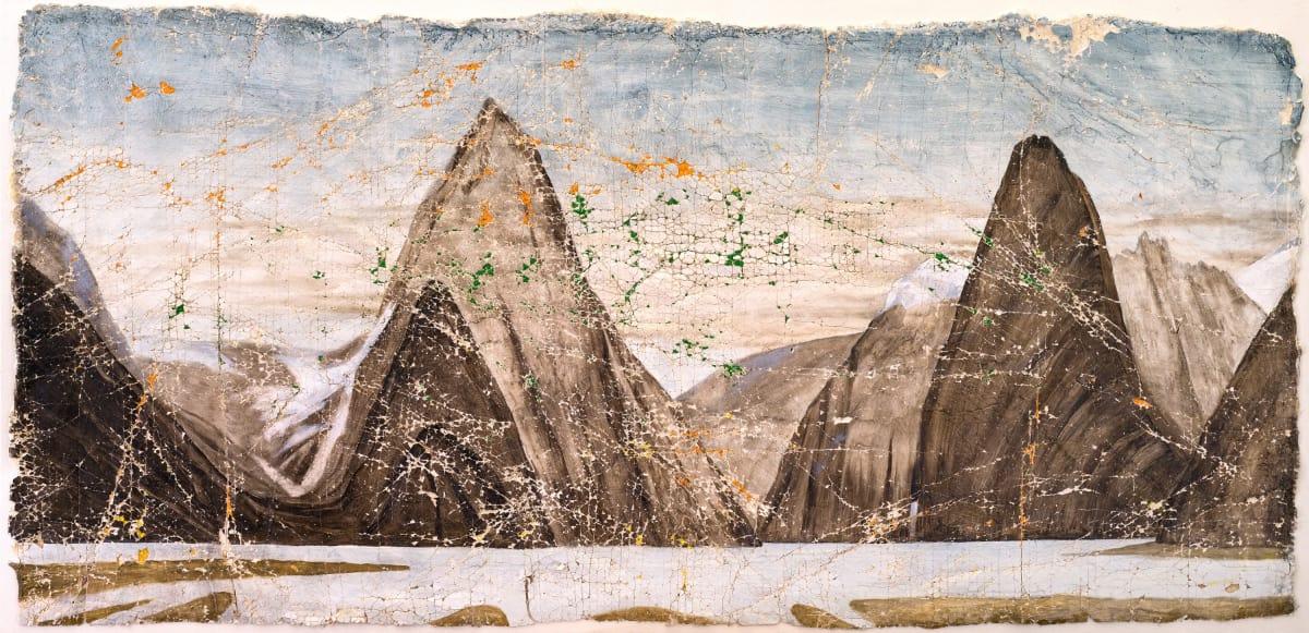 Derek Cowie Buchanan on Cadmium White, 2017 Oil on prepared plaster 29.9 x 62 in 76 x 157.5 cm