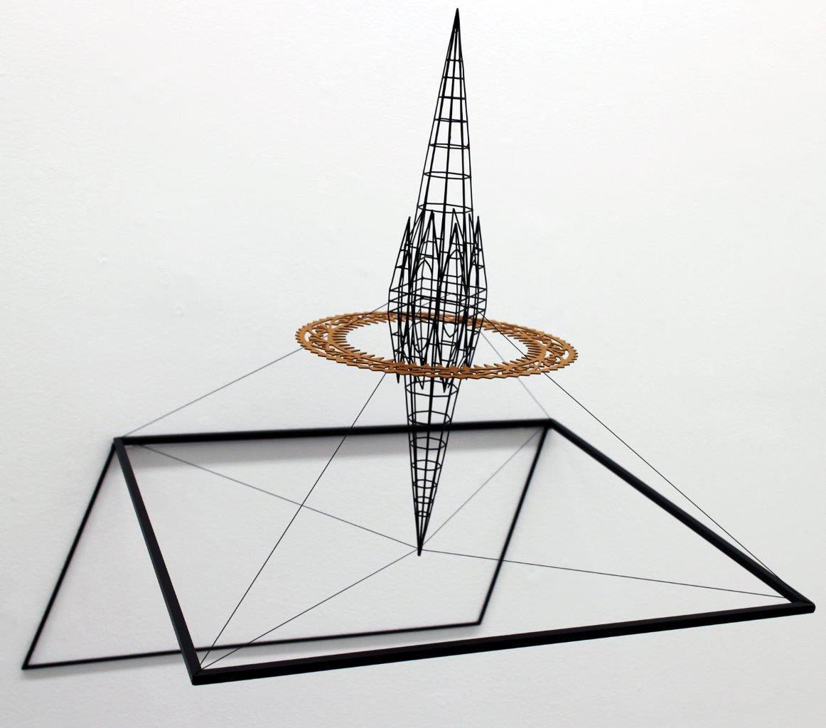 Neil Dawson  Inspiration 6, 2013  Painted steel and stainless steel wire  18.5 x 18.9 x 15 in 47 x 48 x 38 cm