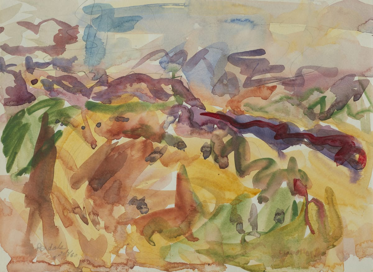 Mountford Tosswill Woollaston Dovedale, 1960 watercolour on paper 272mm x 373mm