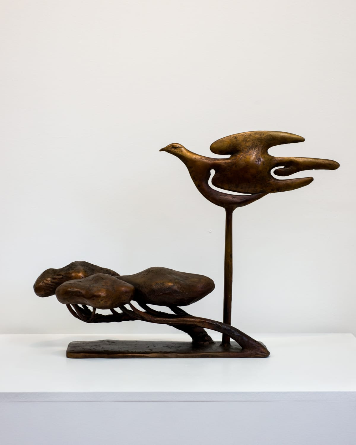 Paul DIBBLE Flying High with Binney Third Study Bronze 15.7 x 28.3 x 4.7 in 40 x 72 x 12 cm #1/1