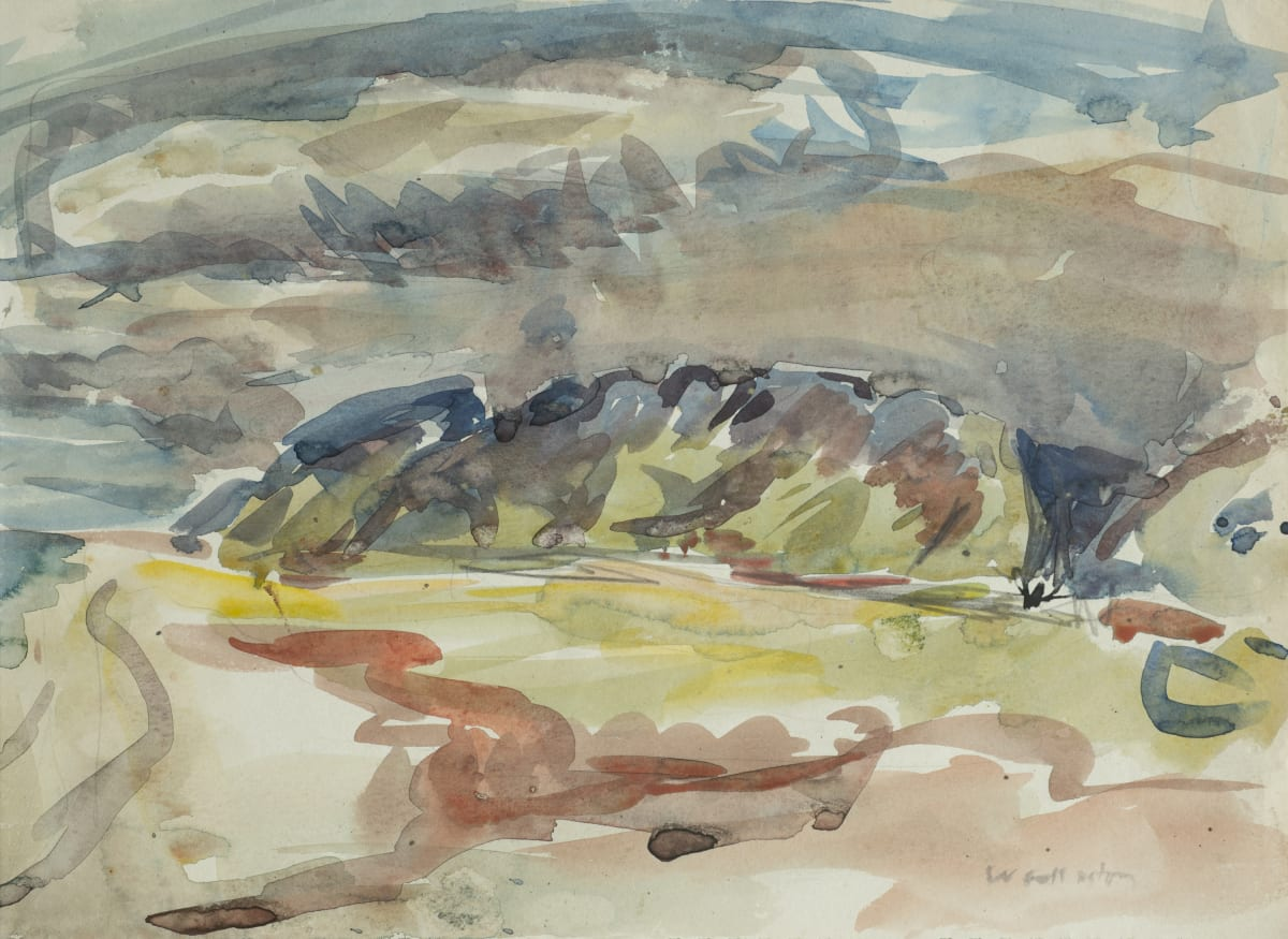 Mountford Tosswill Woollaston Landscape, Greymouth, ND watercolour on paper 272mm x 373mm