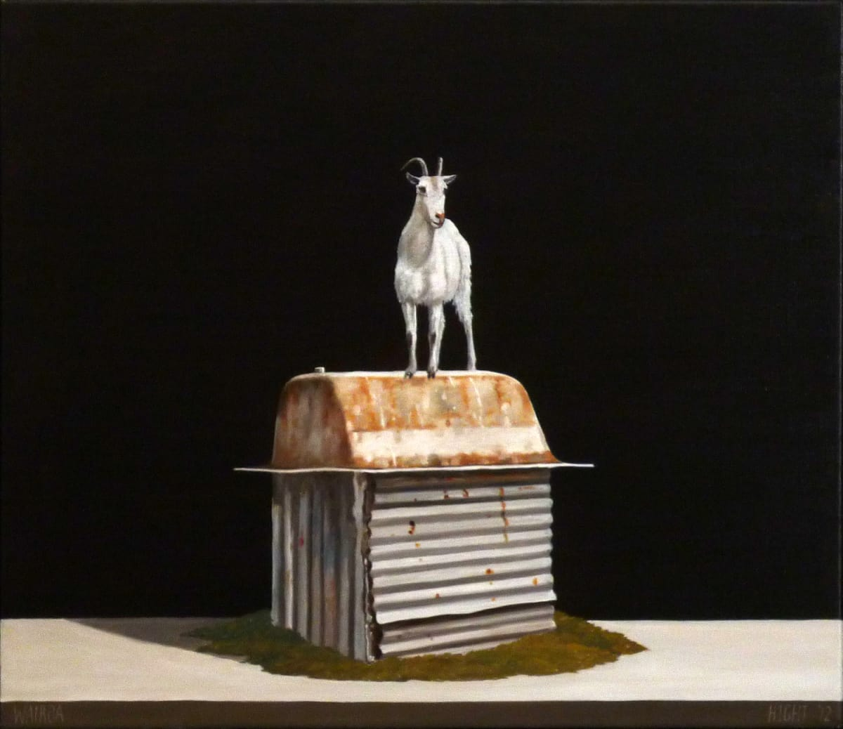 Michael Hight  Waitoa, 2012  Oil on linen  14 x 16.1 in 35.5 x 41 cm