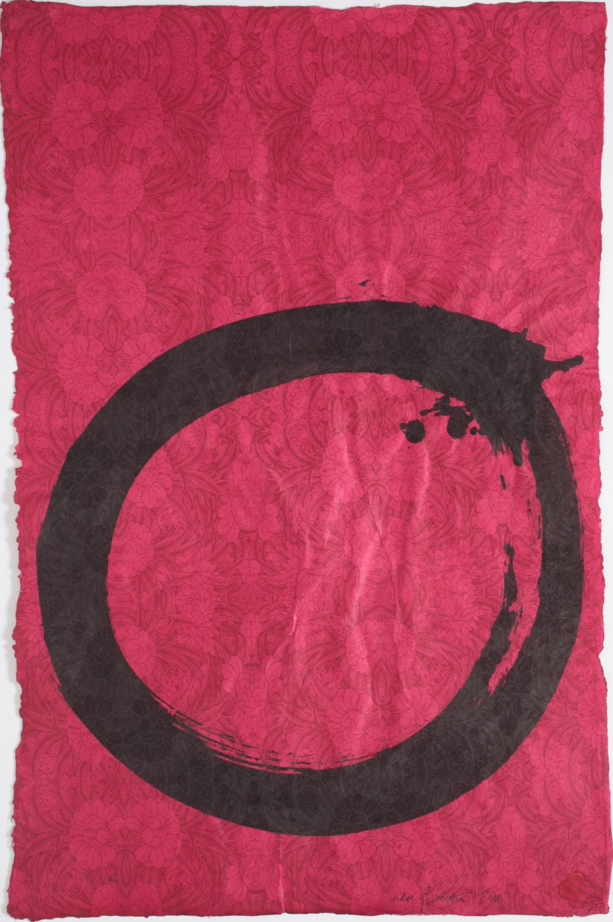 Max GIMBLETT Constant Enso, 2012 Sumi ink on hand made paper 30 x 20 in 76.2 x 50.8 cm