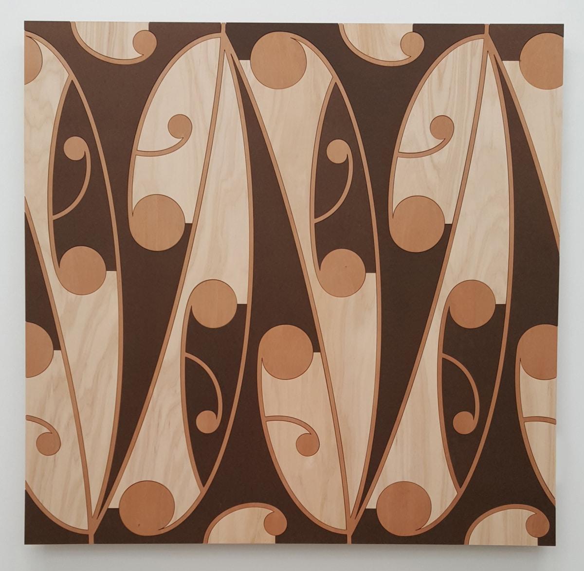 Ngataiharuru TAEPA Mata Rau #6, 2016 Various timbers 43.3 x 43.3 in 110 x 110 cm