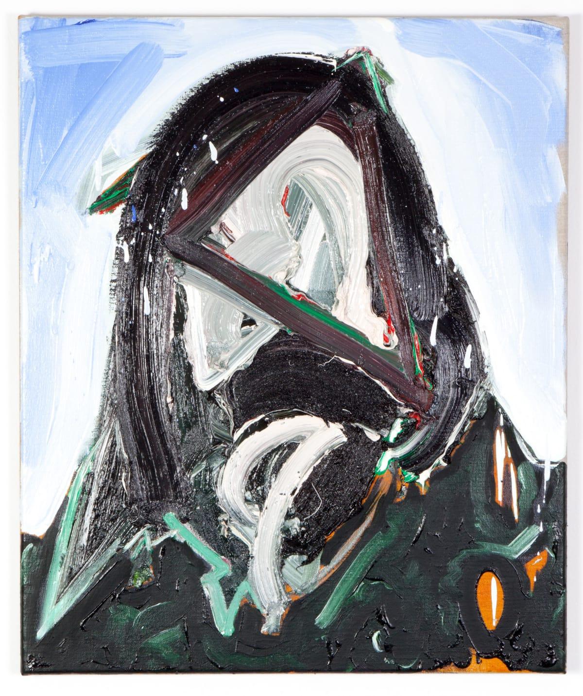 Toby Raine Ozzy with Beard, Holland 1975, 2015 Oil on linen 23.8 x 19.9 in 60.5 x 50.5 cm