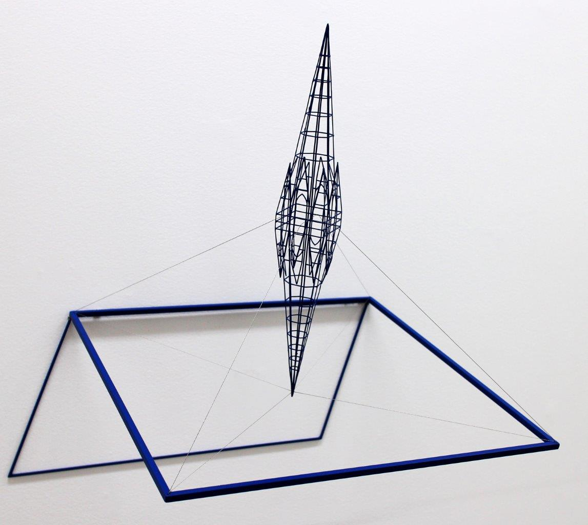 Neil Dawson  Inspiration 2, 2013  Painted steel and stainless steel wire  18.5 x 18.9 x 15 in 47 x 48 x 38 cm