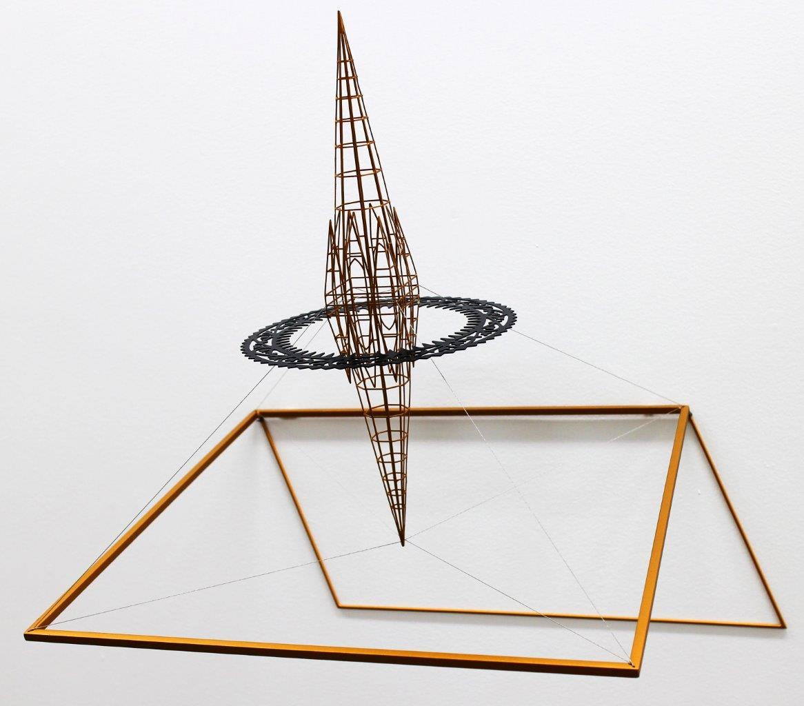 Neil Dawson  Inspiration 3, 2013  Painted steel and stainless steel wire  18.5 x 18.9 x 15 in 47 x 48 x 38 cm