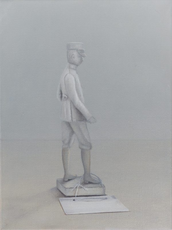 Emily Wolfe Untitled [Soldier], 2018 Oil on linen 40 x 30 cm