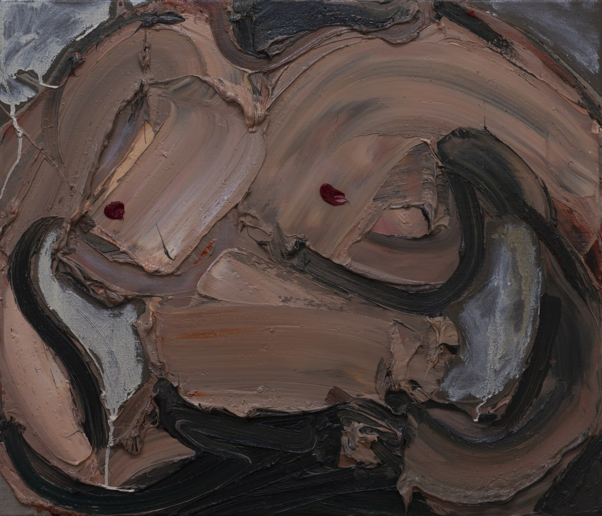 Toby Raine Janie's Breasts, 2019 Oil on linen 600 x 700mm