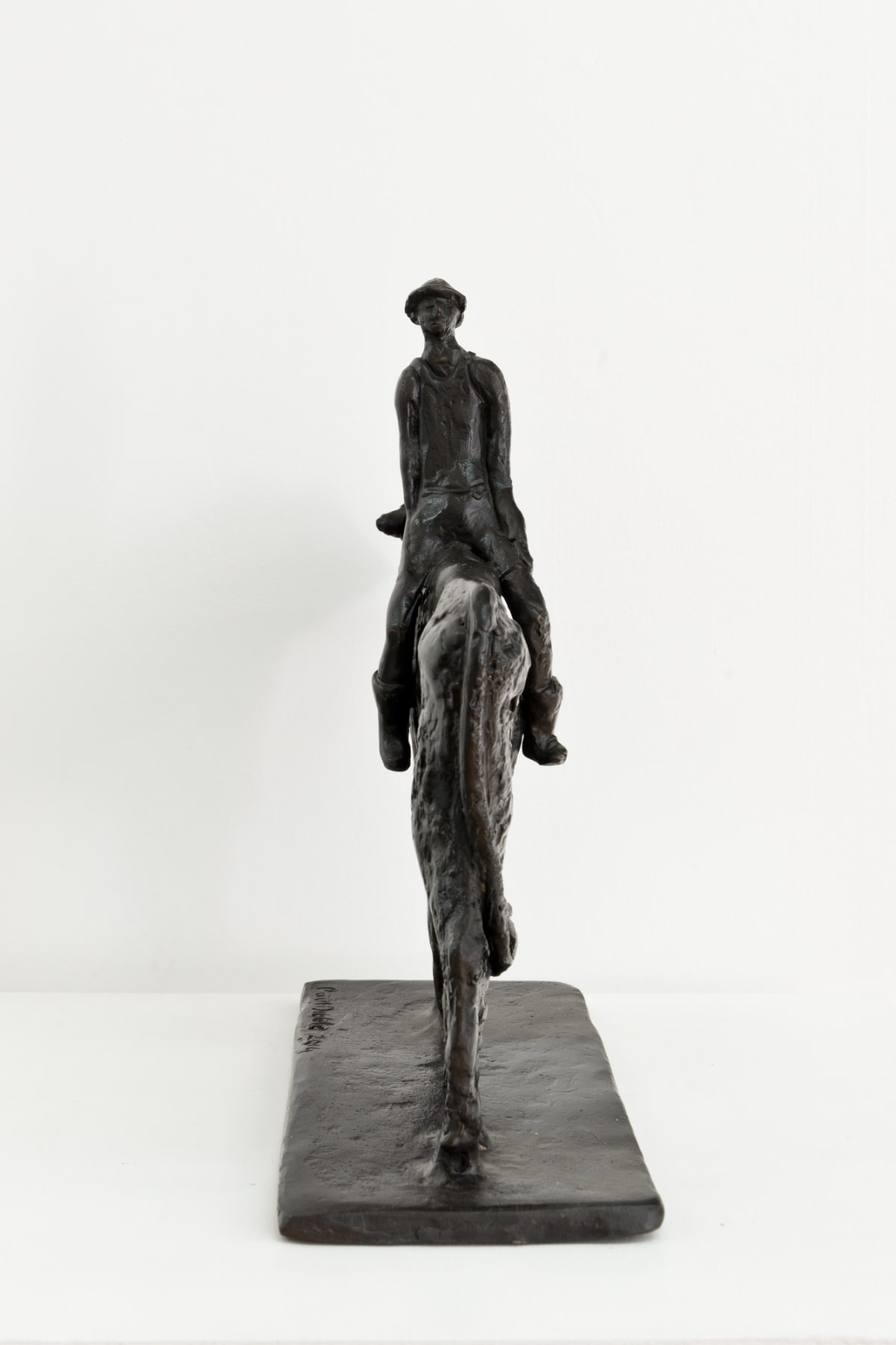 Paul DIBBLE The Farmer Looks Ahead, 2014 Cast Patinated Bronze 13.8 x 15.7 x 5.5 in 35 x 40 x 14 cm #1/2