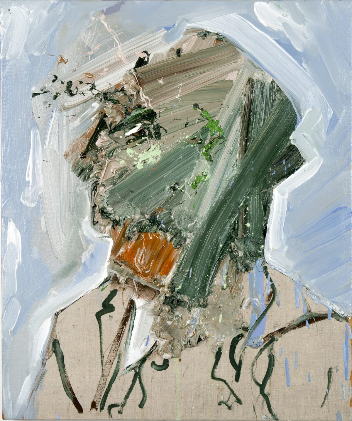 Toby Raine Van Gogh - Beard (After Van Gogh), 2016 Oil on linen 23.8 x 19.9 in 60.5 x 50.5 cm