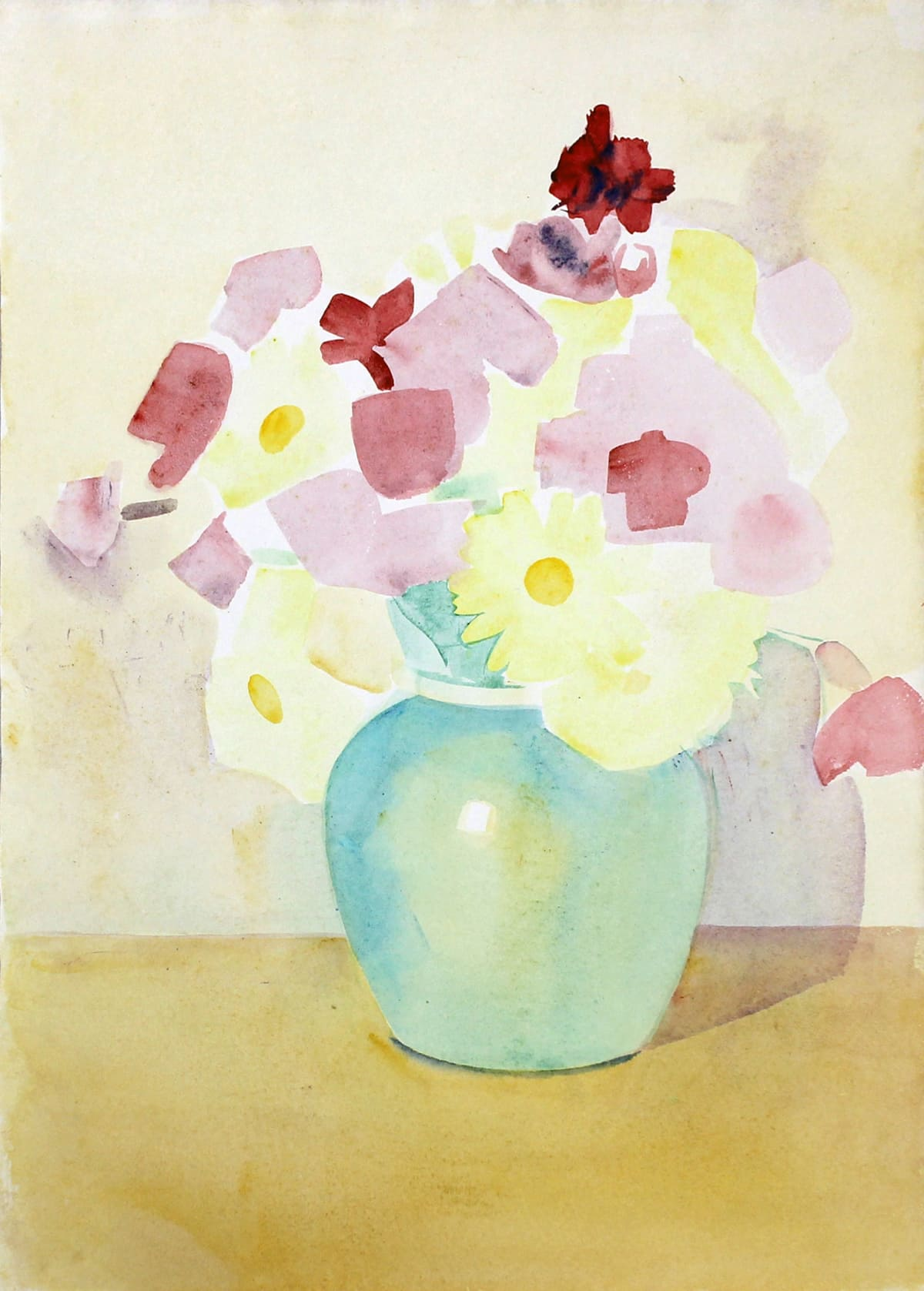 Rita Angus Flowers in Vase (Waikanae), 1950s Watercolour on paper 14.7 x 10.1 in 37.3 x 25.6 cm