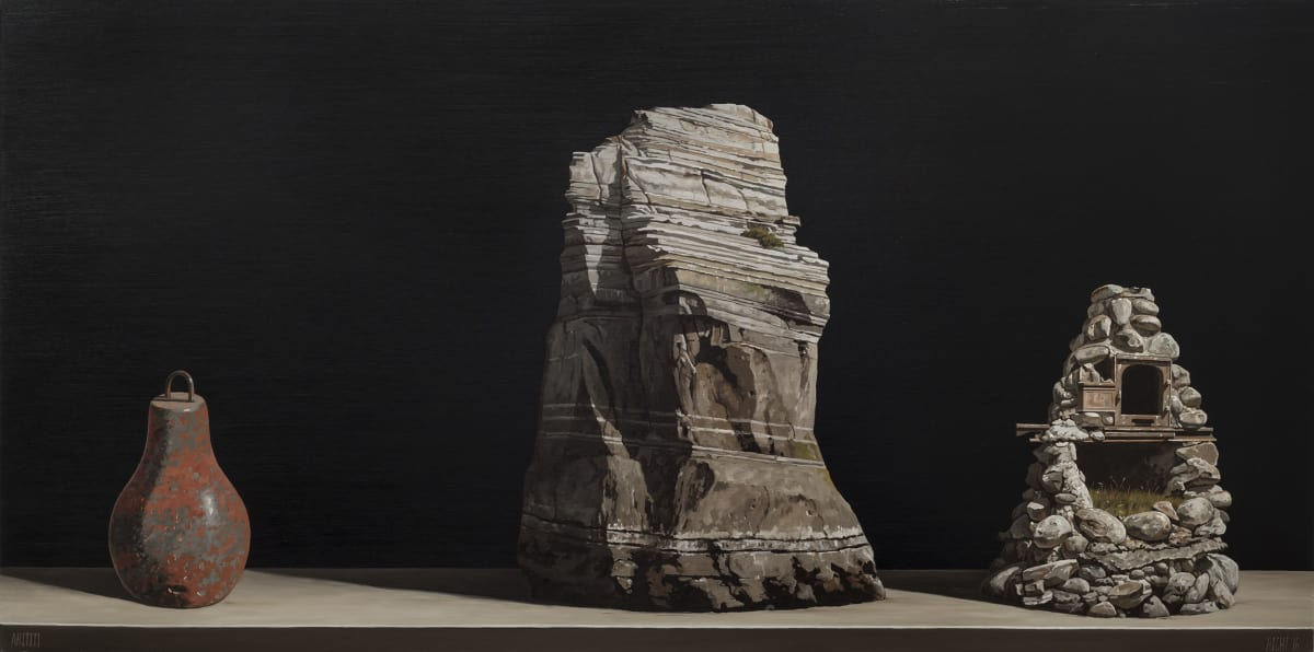 Michael Hight Ahititi, 2016 Oil on panel 23.6 x 47.2 in 60 x 120 cm
