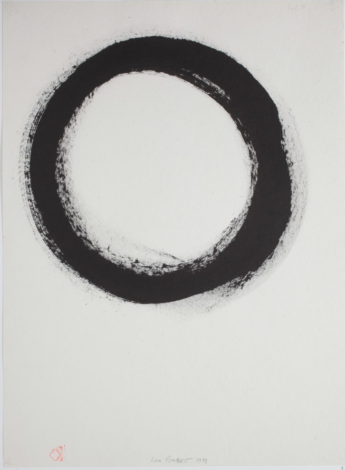 Max GIMBLETT Character - No. 1 Son, 1979 Sumi ink on hand made paper 30 x 22 in 76.2 x 55.9 cm