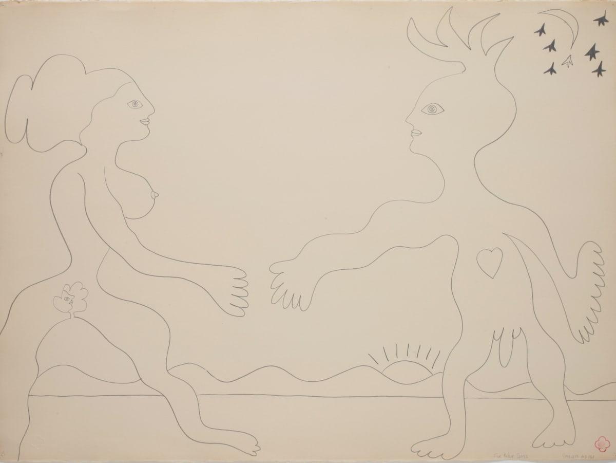 Max GIMBLETT For Barbara, 1968 Pencil on paper 559 x 762 mm 780 x 970 mm (framed)