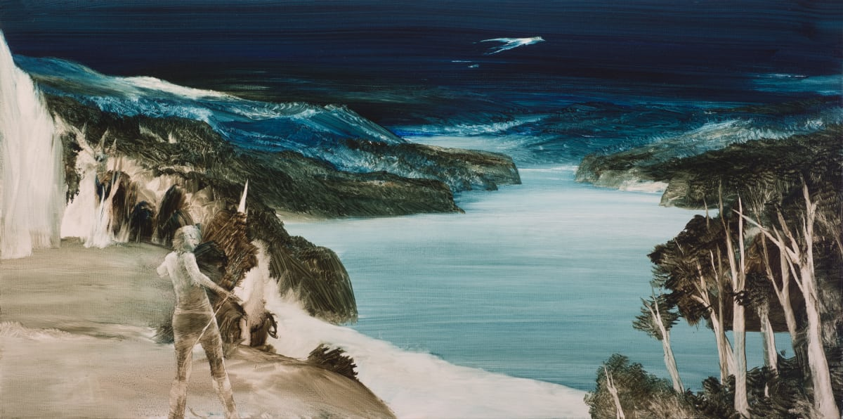 John WALSH Manu Tangata – Bird Man, 2018 Oil on canvas 30 x 70 cm 11 3/4 x 27 1/2 in