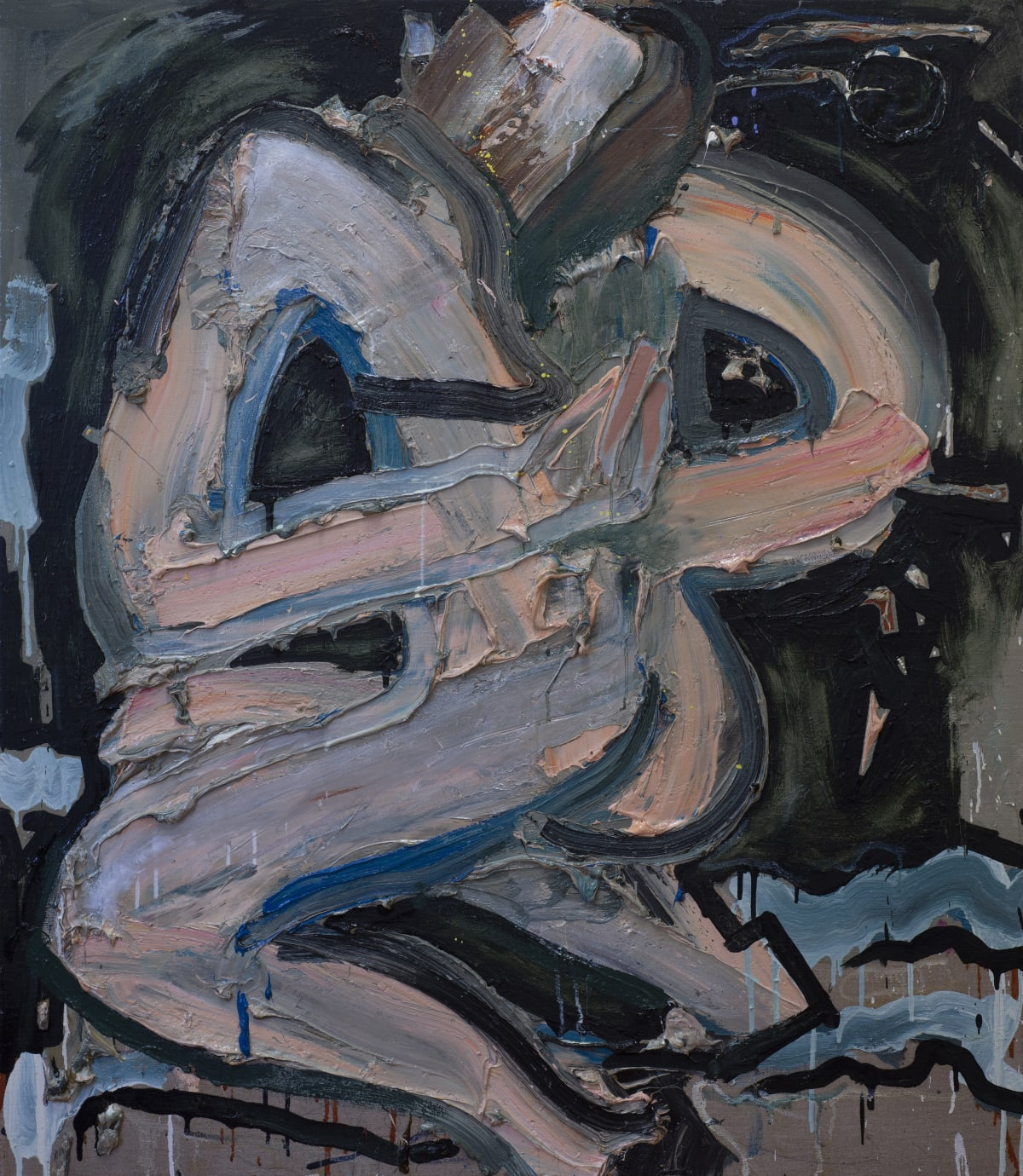 Toby Raine Female Model Undoing Bra From Behind (Image Chosen by Eddie von Dadelszen), 2019 Oil on linen 1150 x 1000mm