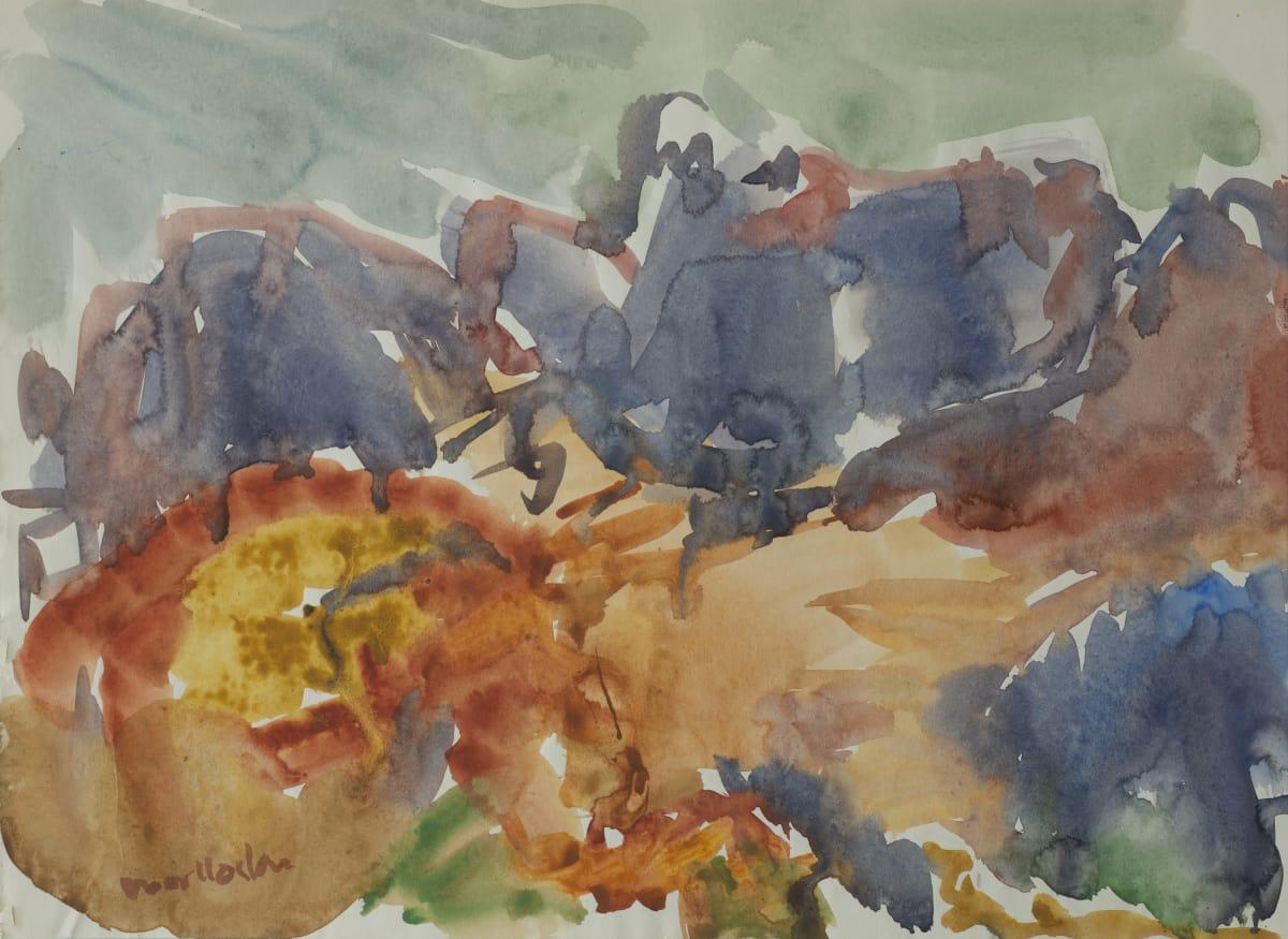 Mountford Tosswill Woollaston Mount Alexander, Westland, 1958 watercolour on paper 275mm x 373mm