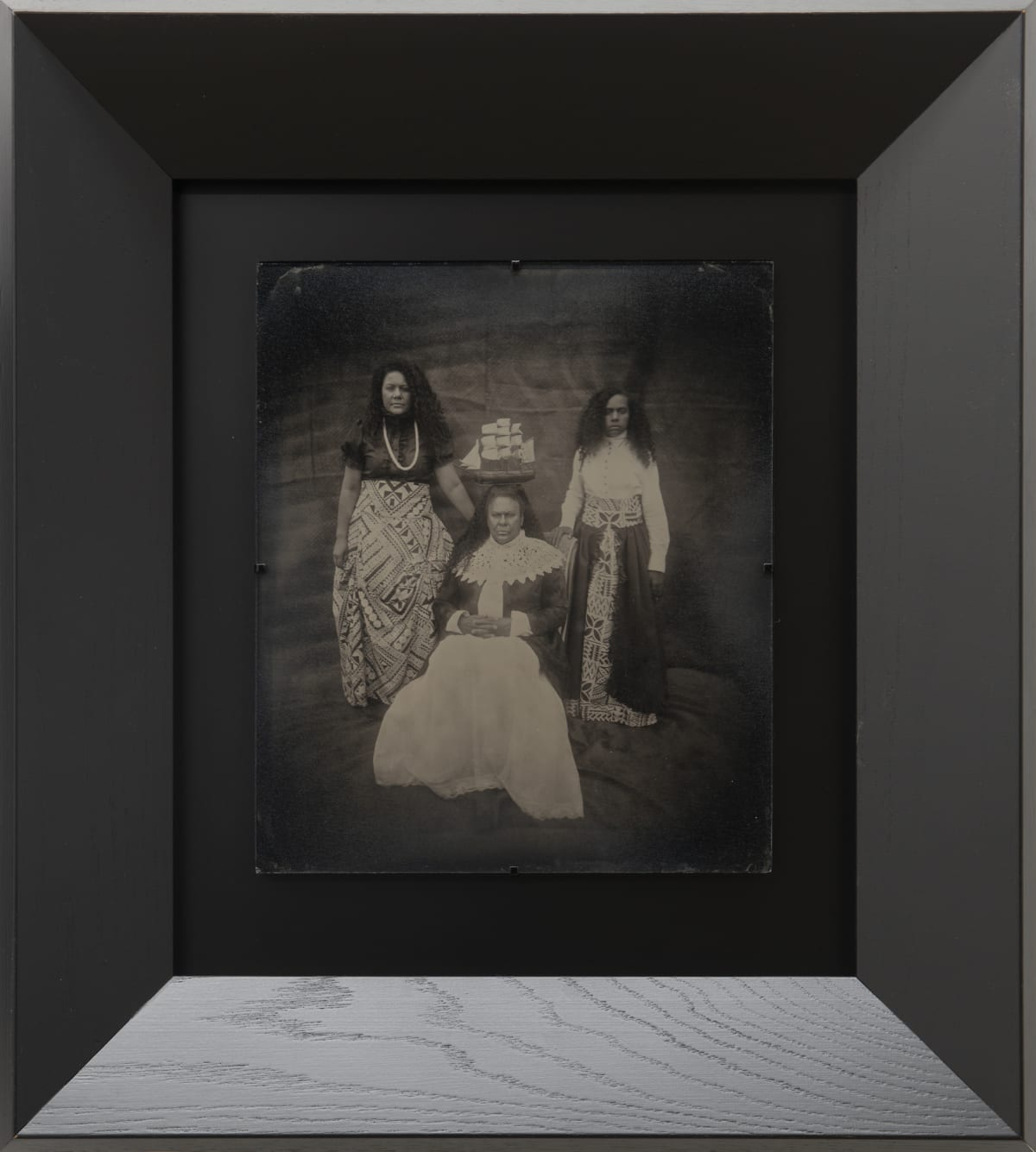 Jasmine Togo-Brisby Adrift Amidst the Middle Passage II, 2019 Collodion on glass 258 x 305mm