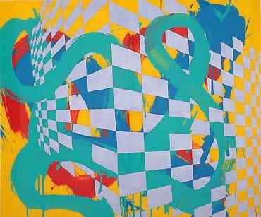 Max GIMBLETT The Pond, 2015 Mixed media 30 x 36 in 76.2 x 91.4 cm