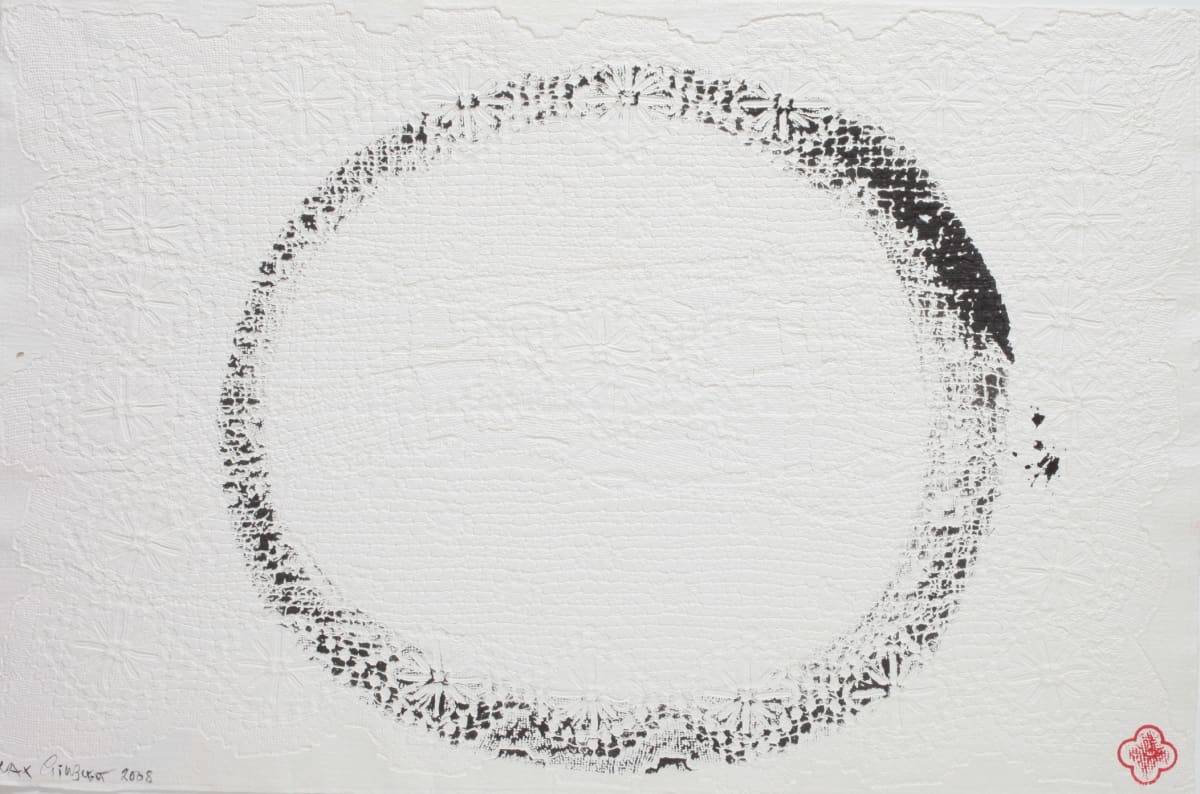 Max GIMBLETT Enso - 6 - 3.9.08, 2008 Sumi ink on hand made paper 16 x 25 in 40.6 x 63.5 cm