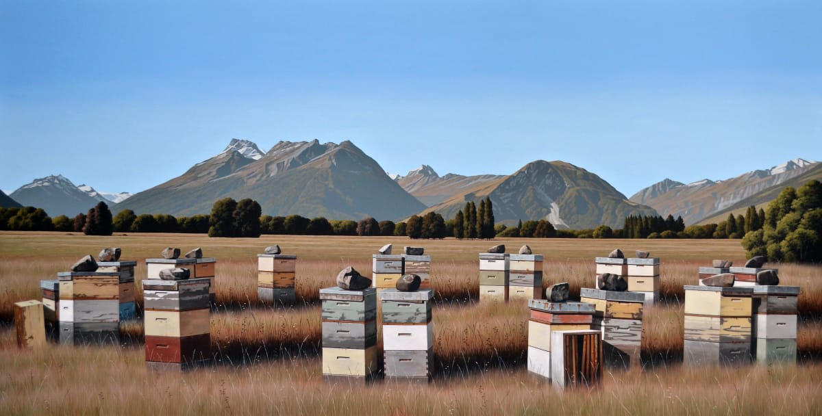 Michael Hight Rees Valley Road, Glenorchy, 2018 Oil on canvas 39.8 x 78 in 101 x 198 cm