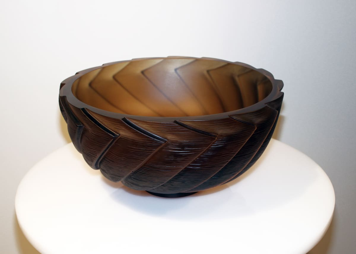 Ann Robinson Generation Bowl [Bronze], 2012 Cast glass 7.9 x 15.4 x 15.4 in 20 x 39 x 39 cm