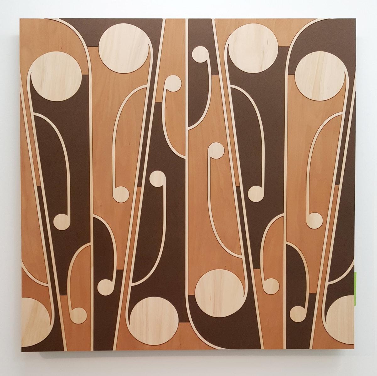 Ngataiharuru TAEPA Mata Rau #3, 2016 Various timbers 43.3 x 43.3 in 110 x 110 cm