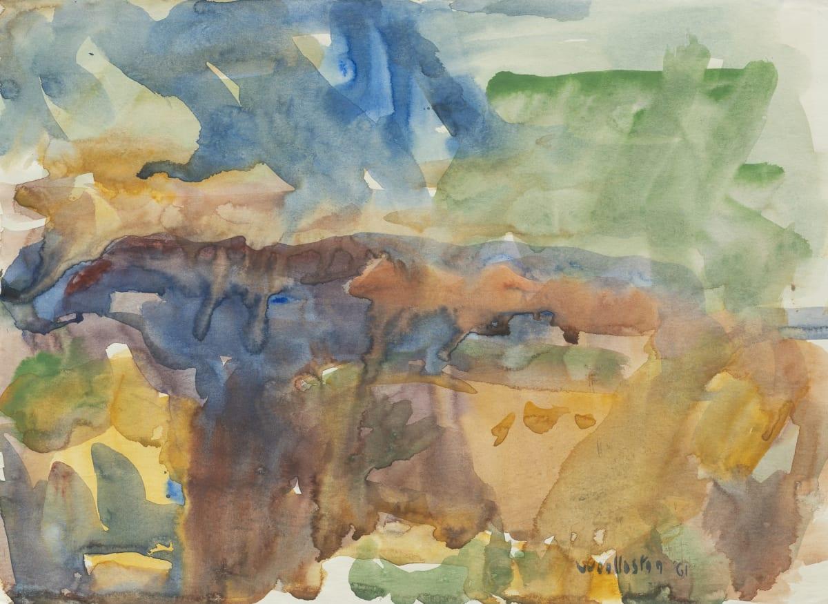 Mountford Tosswill Woollaston Kumara Landscape, 1961 watercolour on paper 270mm x 378mm