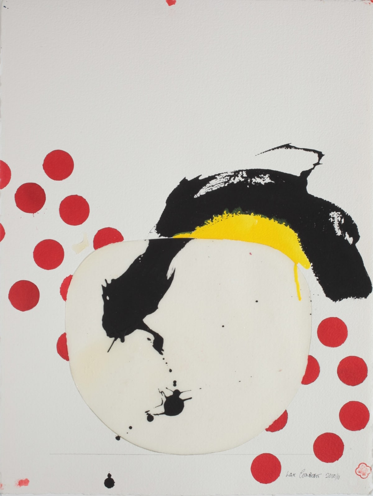 Max GIMBLETT Afternoon in Barcelona, 2010 Mixed media on paper 30 x 23 in 76.2 x 58.4 cm