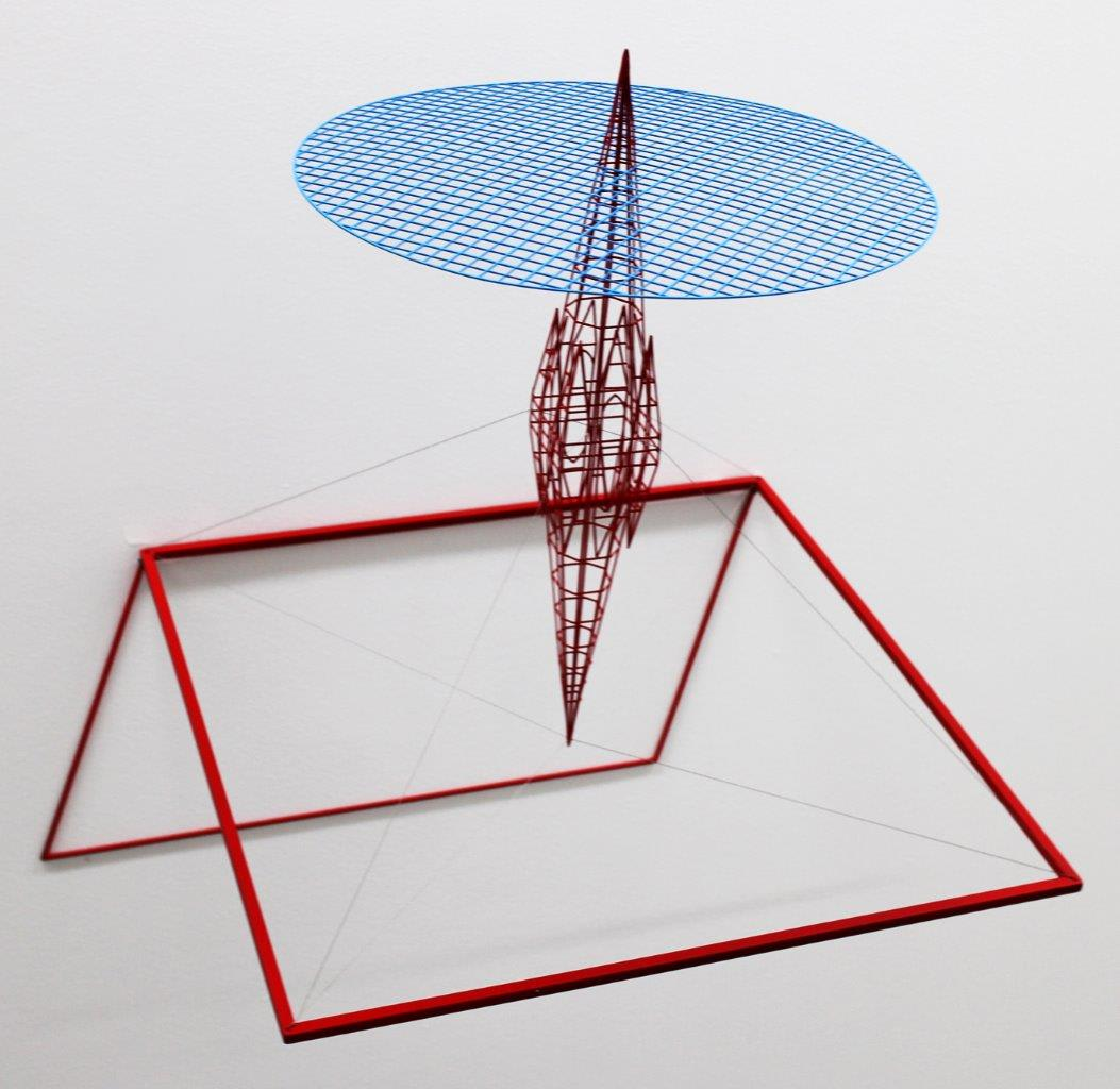 Neil Dawson  Inspiration 4, 2013  Painted steel and stainless steel wire  18.5 x 18.9 x 15 in 47 x 48 x 38 cm
